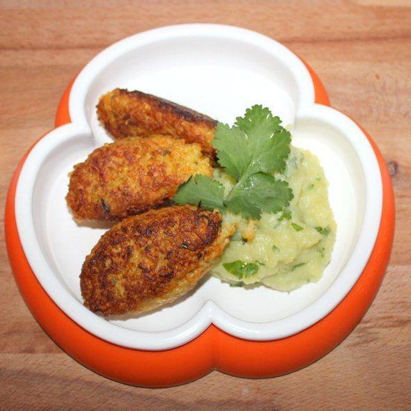hirse karotten puffer koriander kartoffel brei