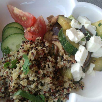 Waldpilz-Zucchini Pfanne mit Quinoa