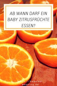pinterest-grafik zum beitrag ab wann darf baby zitrusfrucht essen