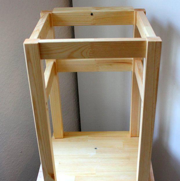 lernturm ikea hack learning tower selber bauen babyled weaning. Black Bedroom Furniture Sets. Home Design Ideas
