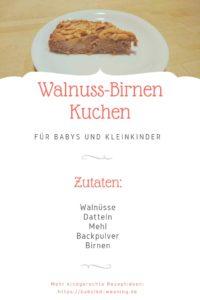 Veganer Birnen Walnuss Kuchen Babyled Weaning