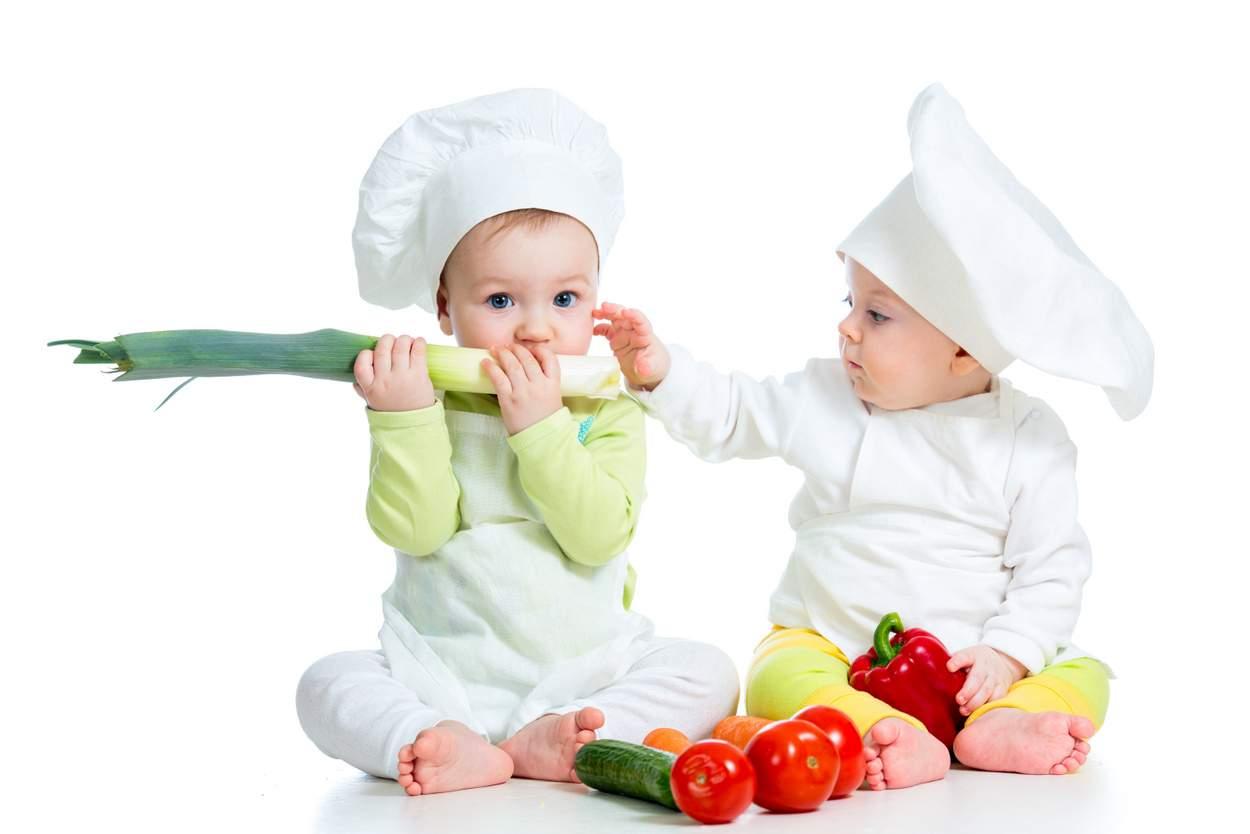 Baby wollen Lauch Porree essen