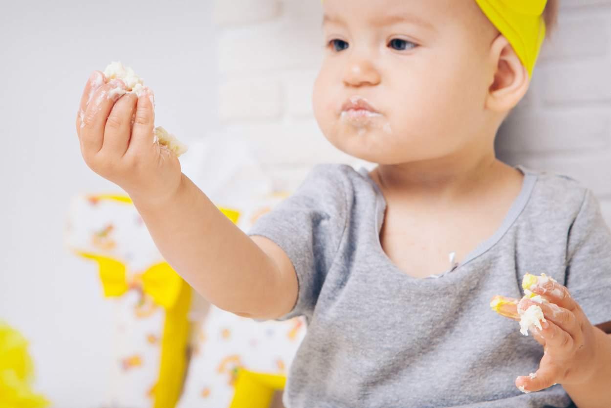 Baby will Polenta essen
