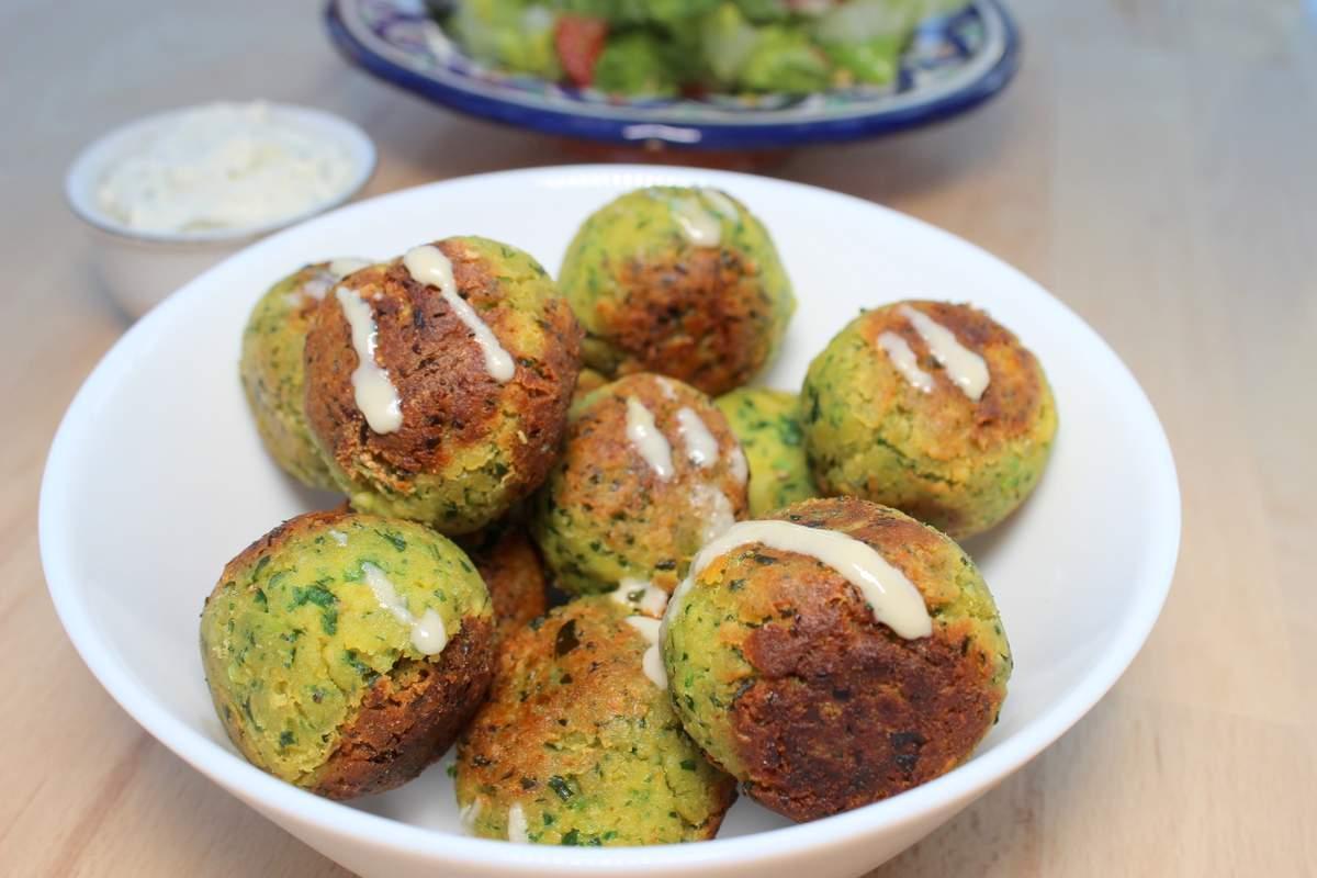 bärlauch falafel für babys