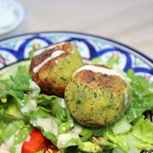 bärlauch falafel vegan