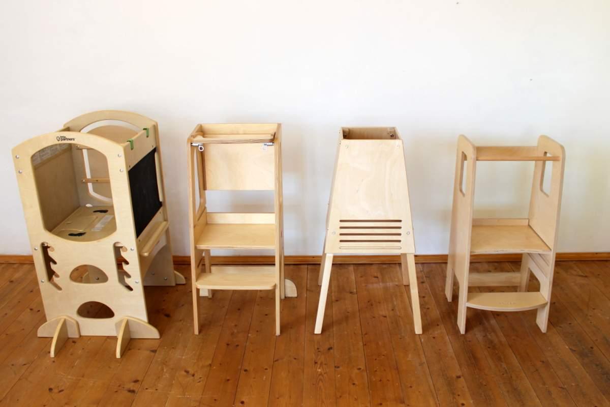4 Lerntürme aus Holz im Test
