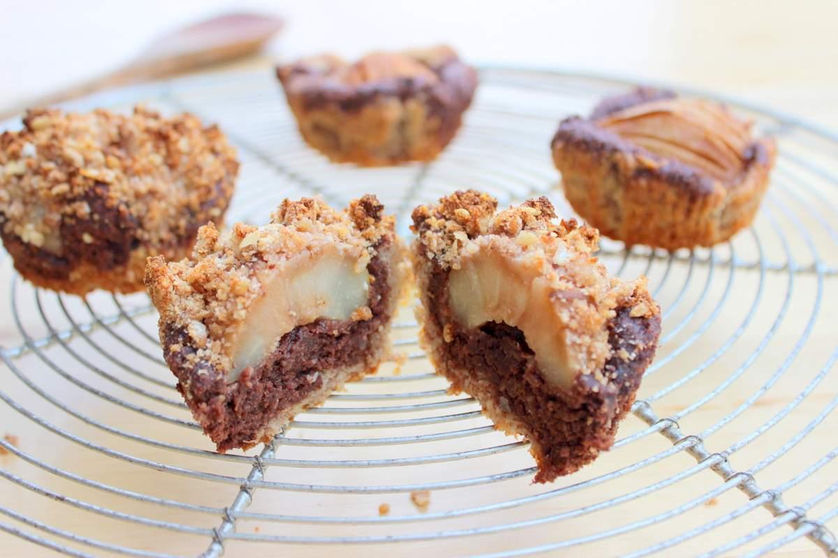 marmor-muffins mit birne